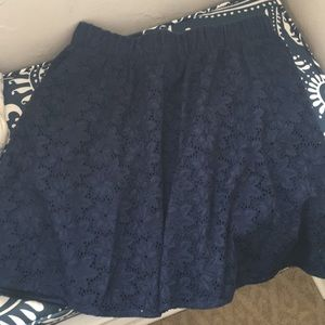 The Webster Miami for Target Navy Eyelet Skirt
